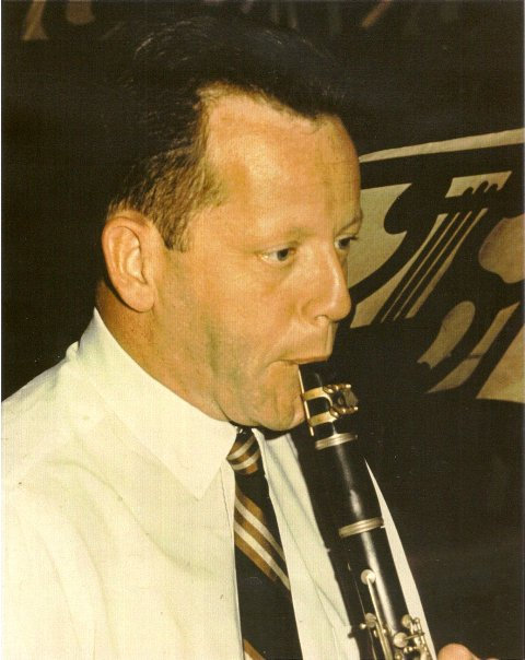 Robert Marcellus playing the clarinet, courtesy of Wes Foster