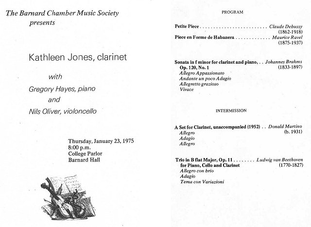 Recital Jan. 23 1975