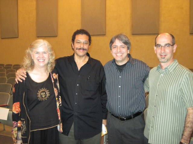 Kathy with Alfonso, Efrain and Ricardo.