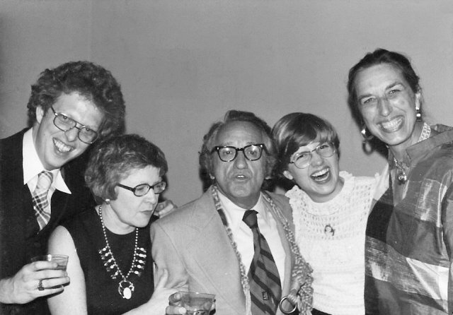 Fred Bremer (high school friend from Eugene, OR,) Mom (Jane Troth Jones,) Leon, me and Penny, post recital.