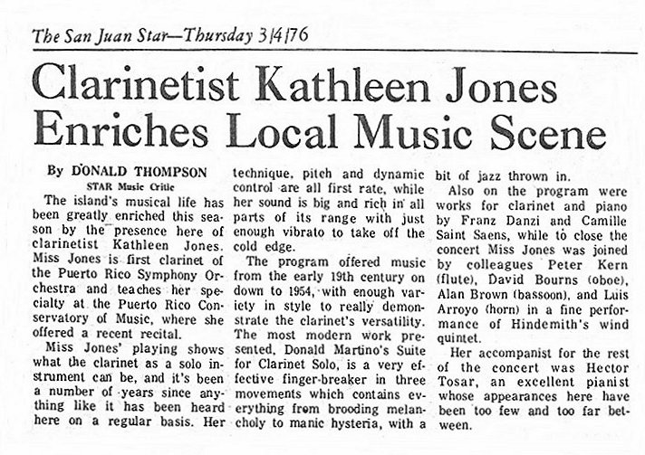 Review from the San Juan Star -- April 3, 1976
