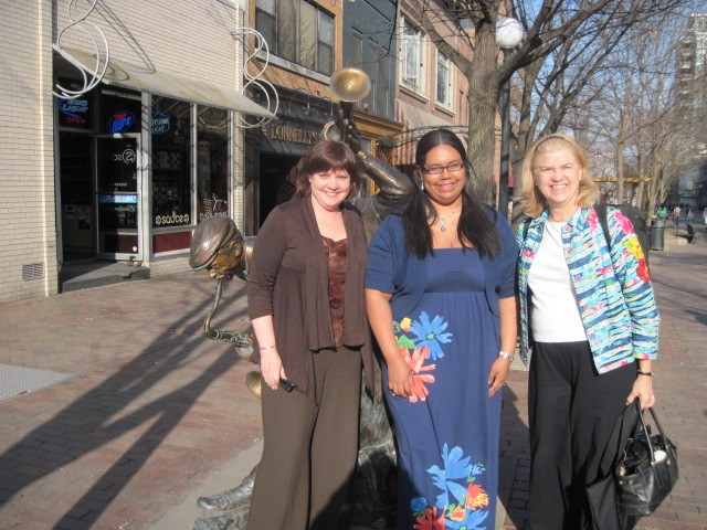 Dr. Maurita Mead, Laiza Nazario, and Kathy Jones