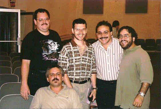 Luis Espinosa, Nelson Vega, Wilson Méndez,            José (Furrito) Ríos, and, seated, Julio Loíz.