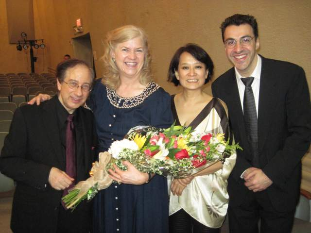 From left to right, Charles Neidich, Kathleen Jones, Ayako Oshima, and Oskar Espina de Ruiz.
