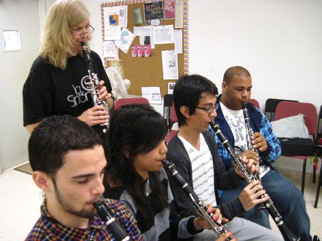Master class in Escuela Libre de Música in Caguas